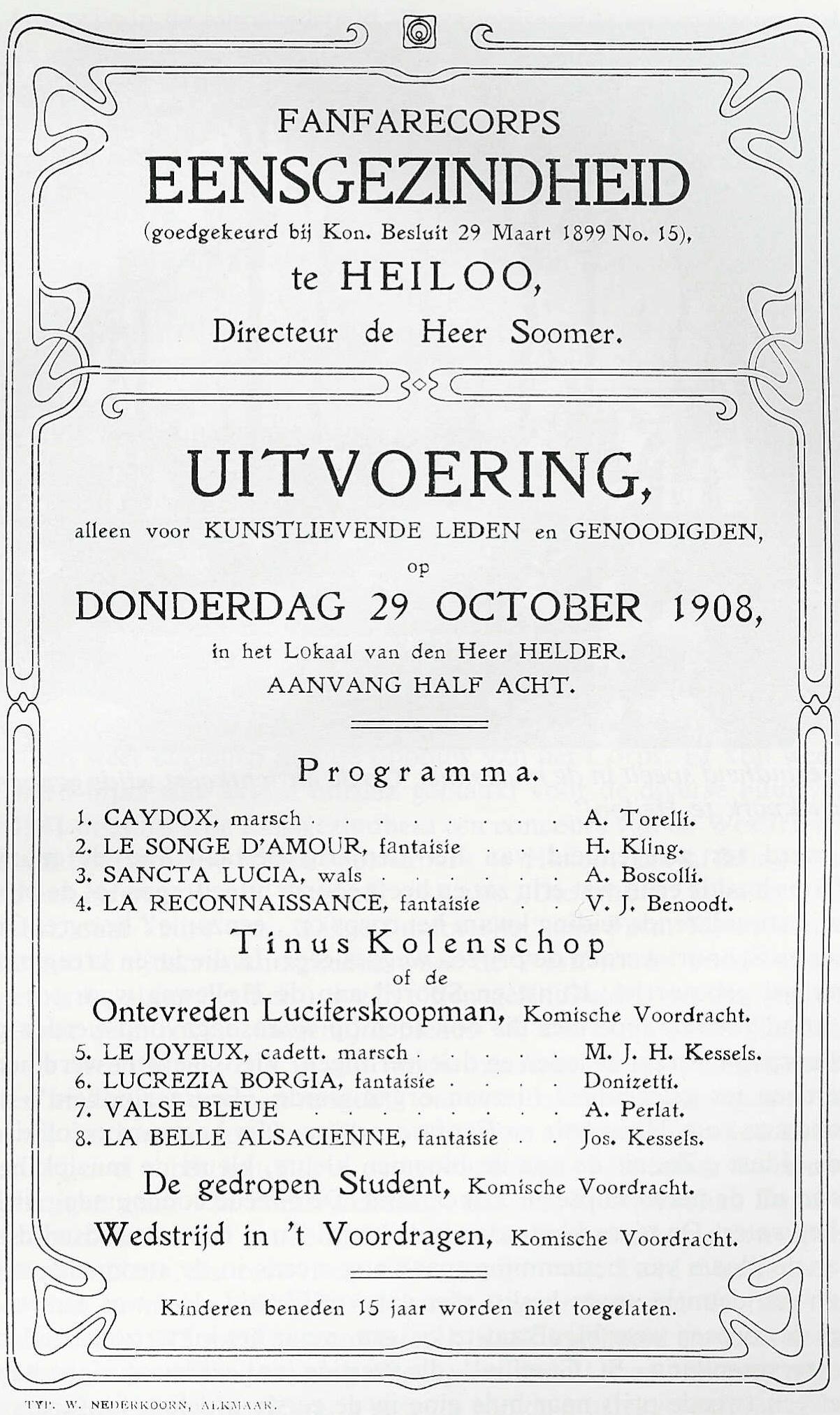 Programma Eensgezindheid 1908